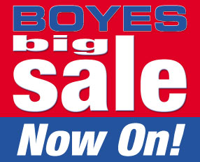 Boyes big sale now on!!
