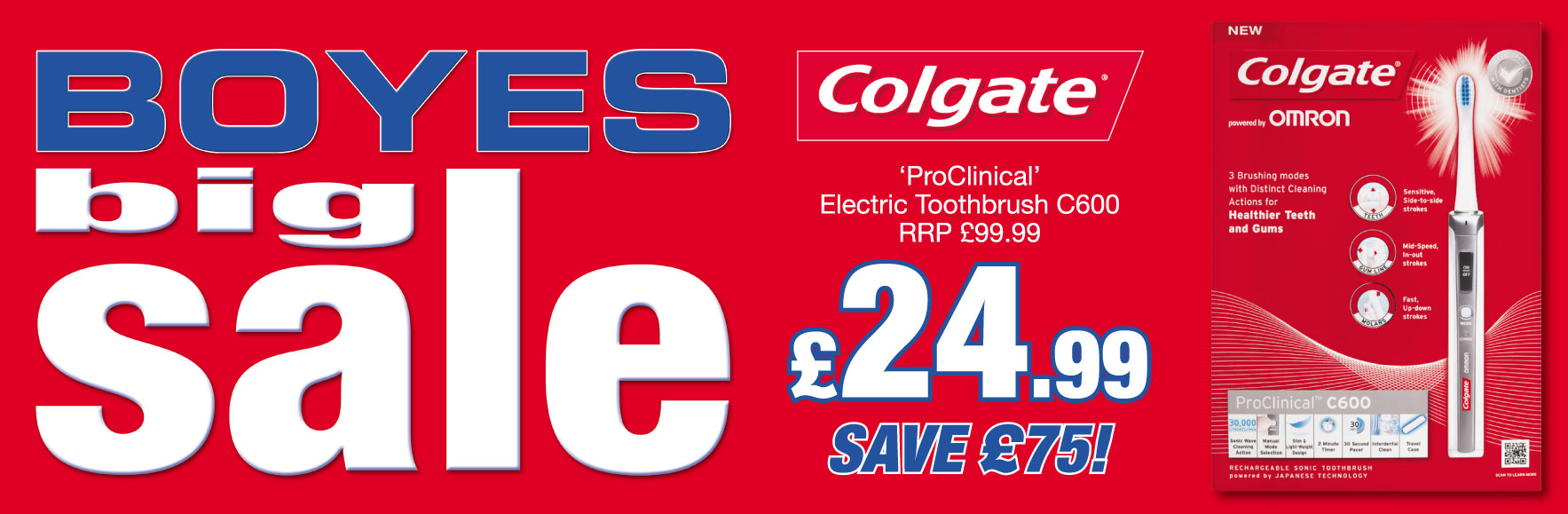 Colgate ProClinical C600 Electric Toothbrush SAVE £75 OFF RRP