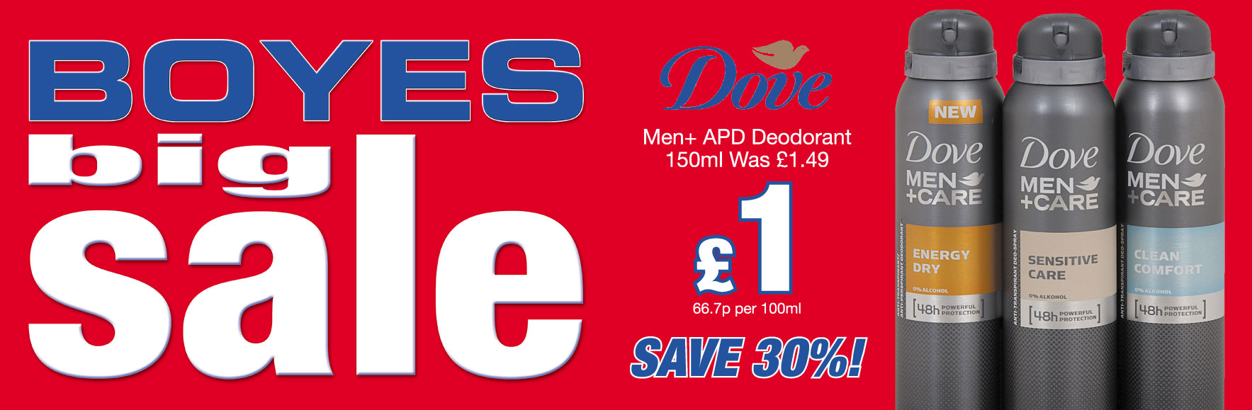 Dave Men+ APD Deodorant was £1.49 NOW £1