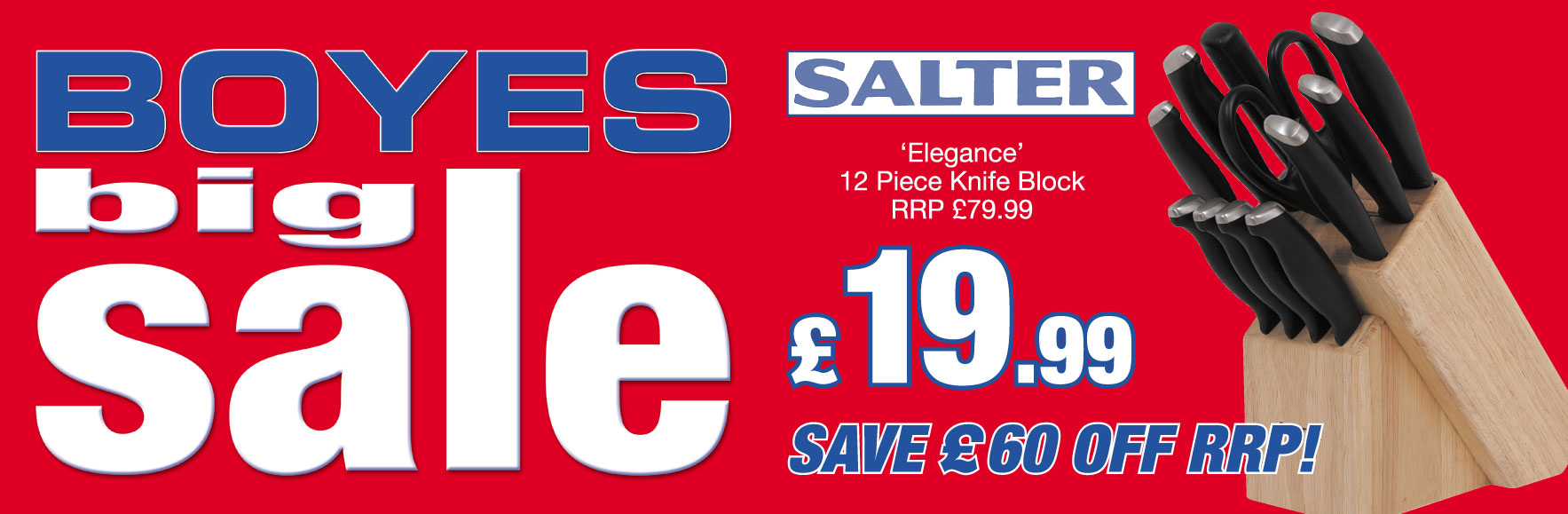 Salter Elegance 12 piece knife block RRP £79.99 NOW £19.99