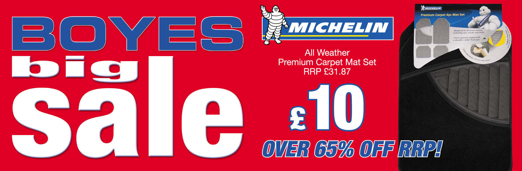 Michelin Carpet Mat Set RRP £31.87 NOW £10