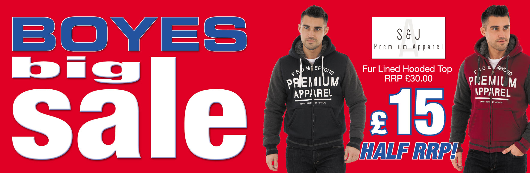 Smith and Jones Fur Linded Hooded Tops RRP £30 ONLY £15