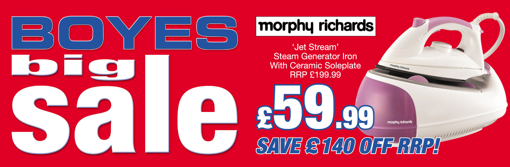 Morphy Richards 'Jet Stream' RRP £199.99 ONLY £59.99
