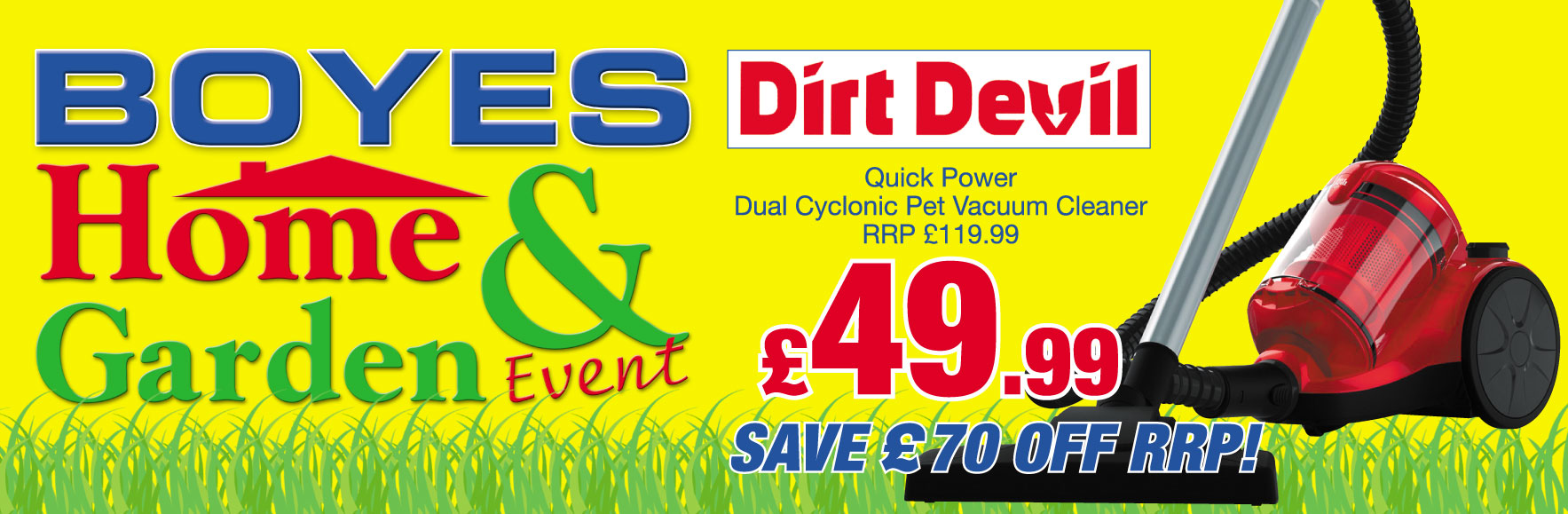 Dirt Devil Dual Cyclonic Pet Vacuum Cleaner RRP £119.99 ONLY £49.99!