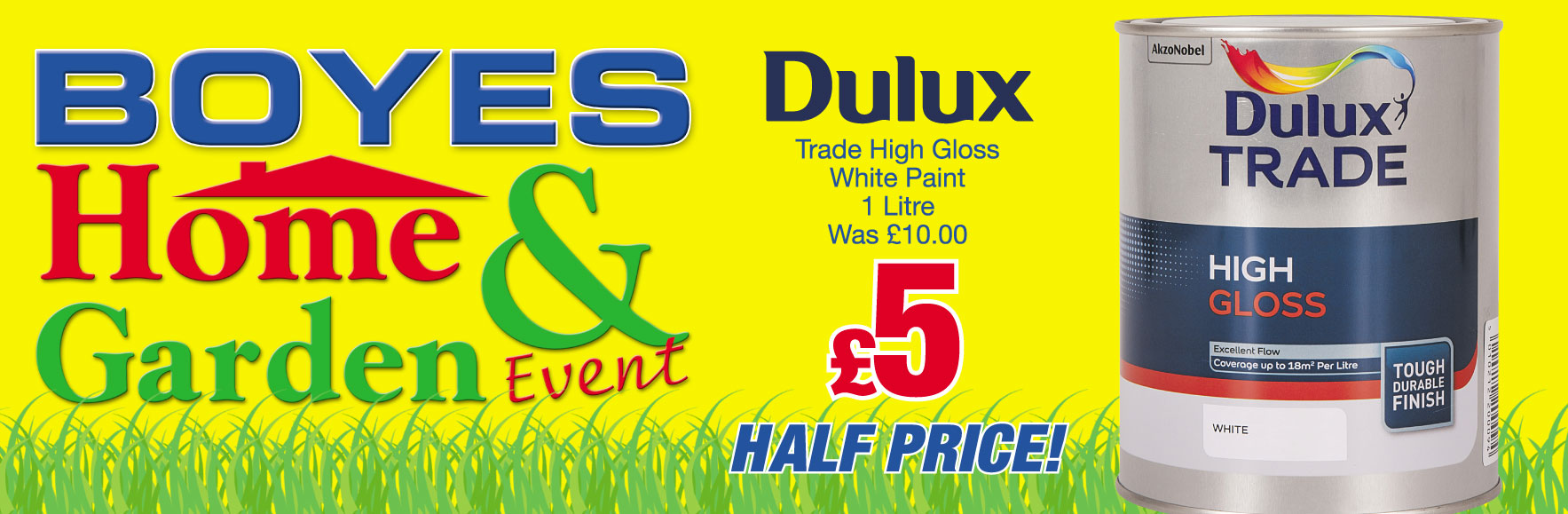 Dulux Trade High Gloss White Paint 1 Litre Was £10 NOW £5