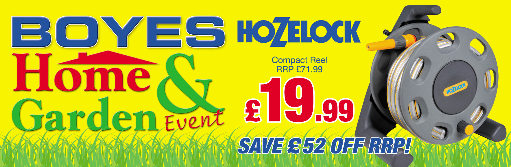 Hozelock Compact Reel RRP £69.99 NOW £19.99