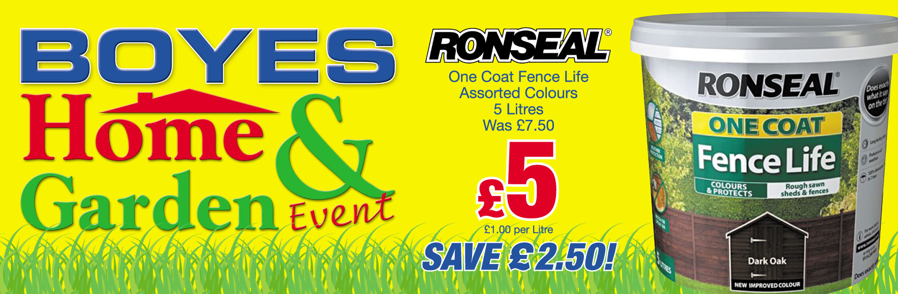Ronseal One Coat Fence Life Was £7.50 NOW £5