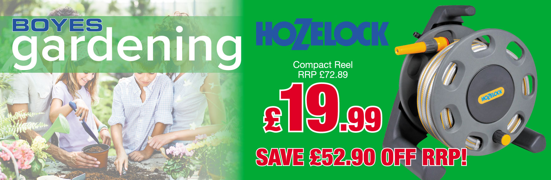 Hozelock Compaact reel RRP £72.89 ONLY £19.99!