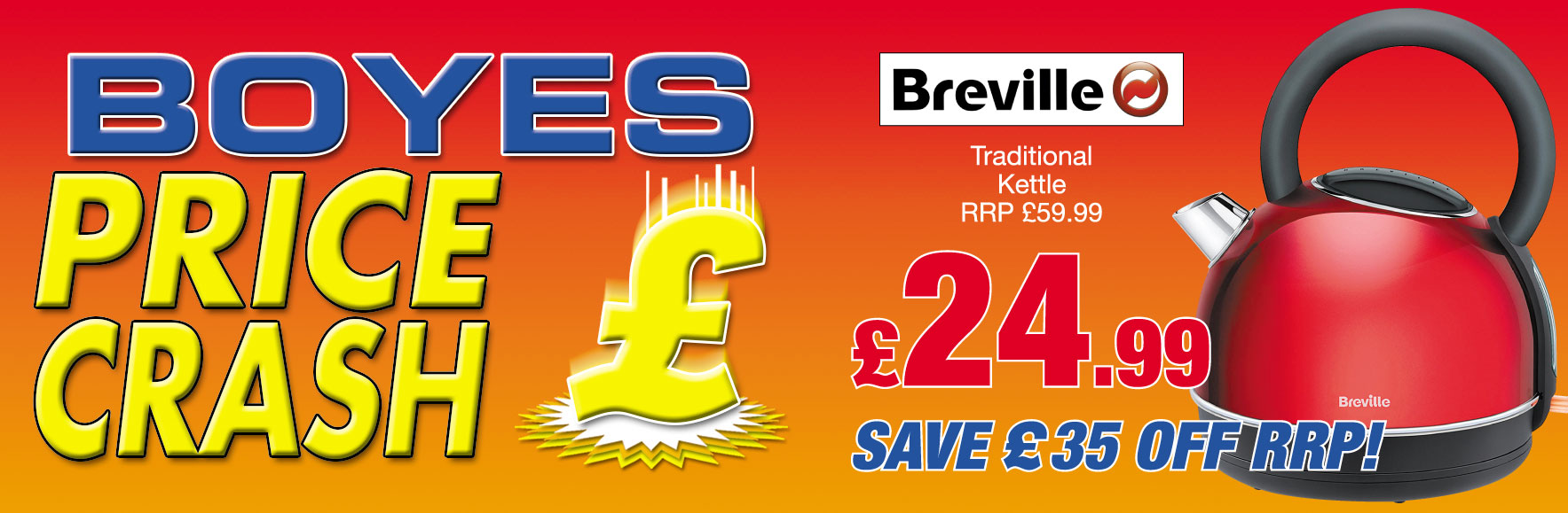 Breville Traditional Kettle RRP £59.99 ONLY £24.99