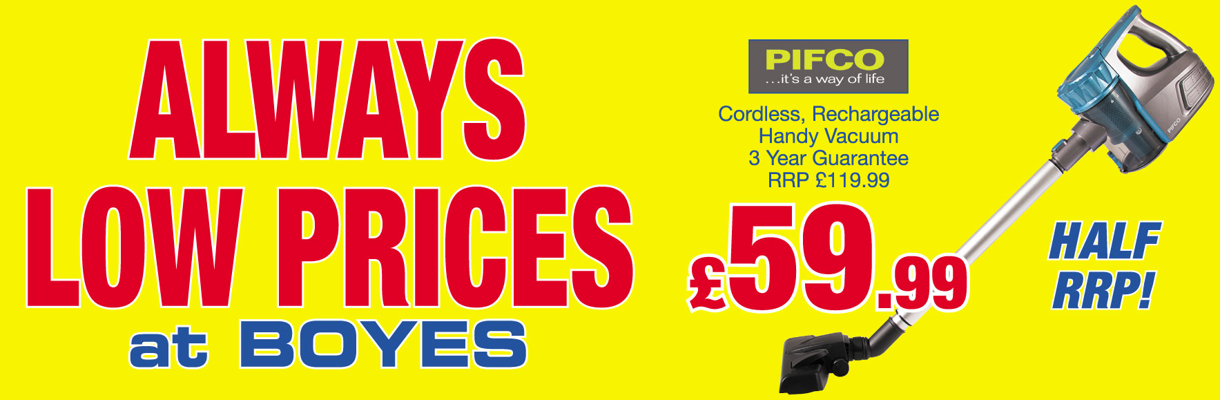 Pifco Cordless Rechargeable Vacuum HALF RRP Only £59.99