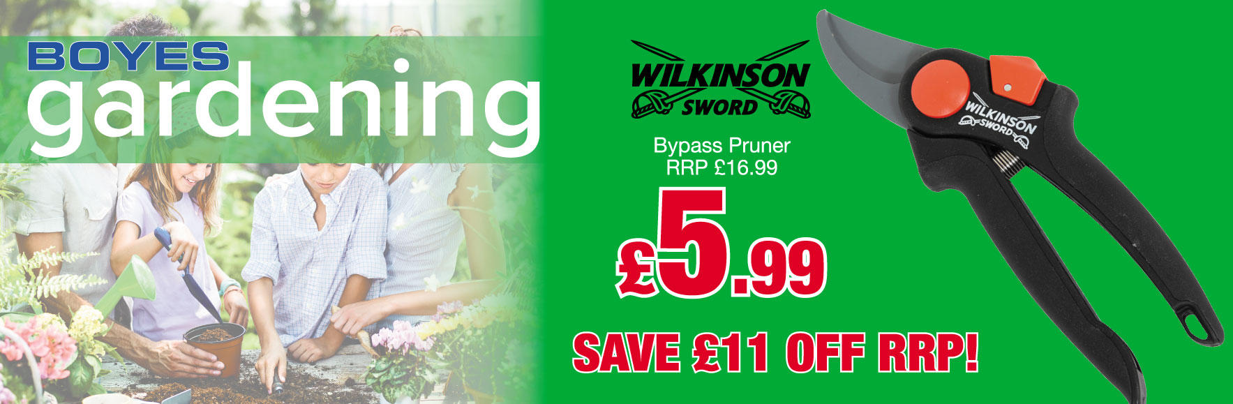 Wilkinson Sword Bypass Pruner RRP £16.99 ONLY £5.99