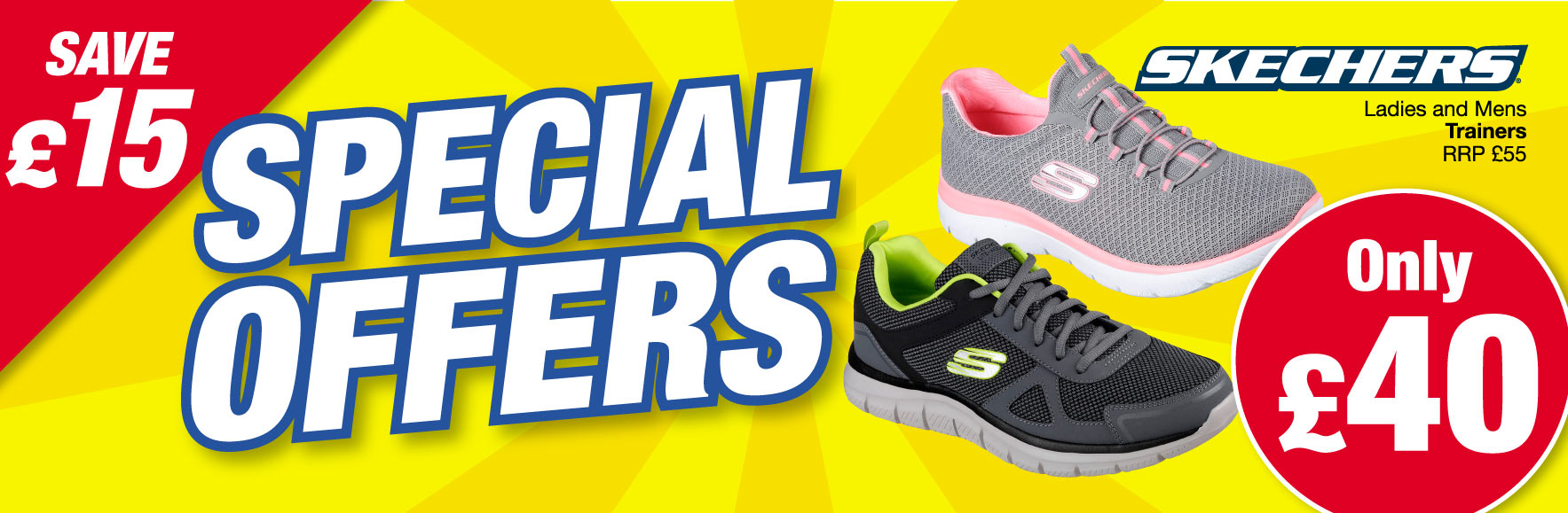 Skechers Ladies and Mens trainer RRP £55 ONLY £40