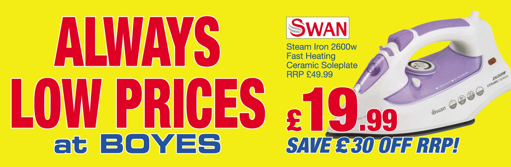 Swan Steam Iron RRP £49.99. Only £19.99