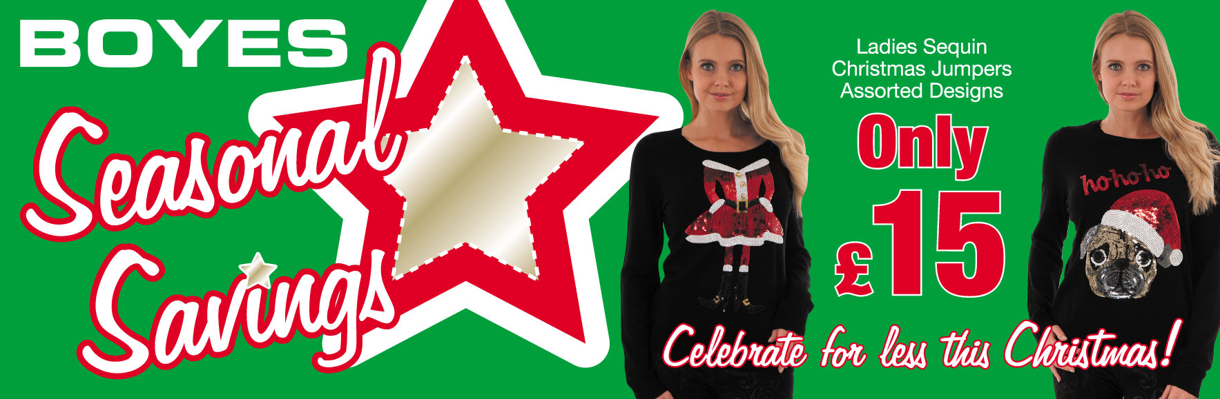 Ladies Sequin Christmas Jumpers only £15!