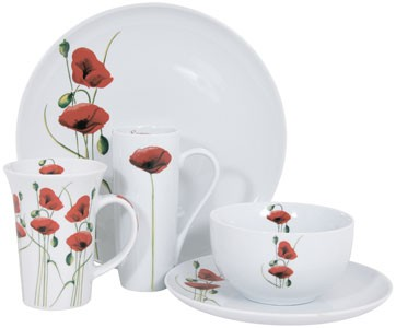 Red Poppy Tableware