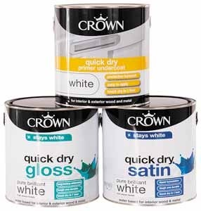 Crown Assorted Brilliant White Paint