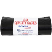 Boyes Black Refuse Sacks