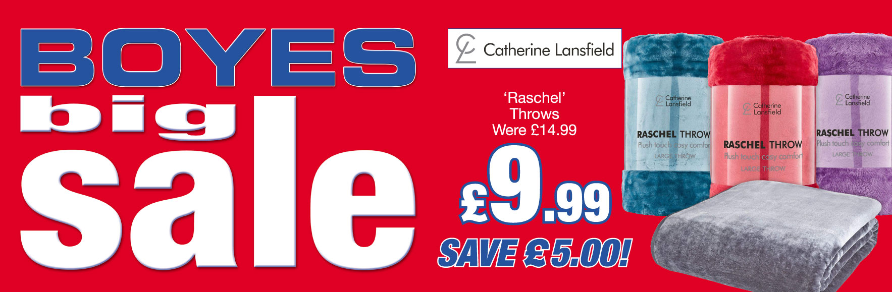Catherine Lansfield Raschel Throws. Were £14.99. ONLY £9.99. Save £5!