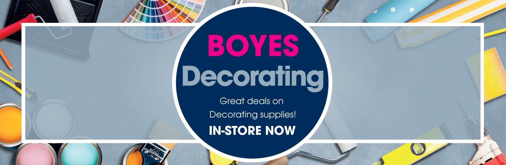 Great deals on decorating supplies. In-store now