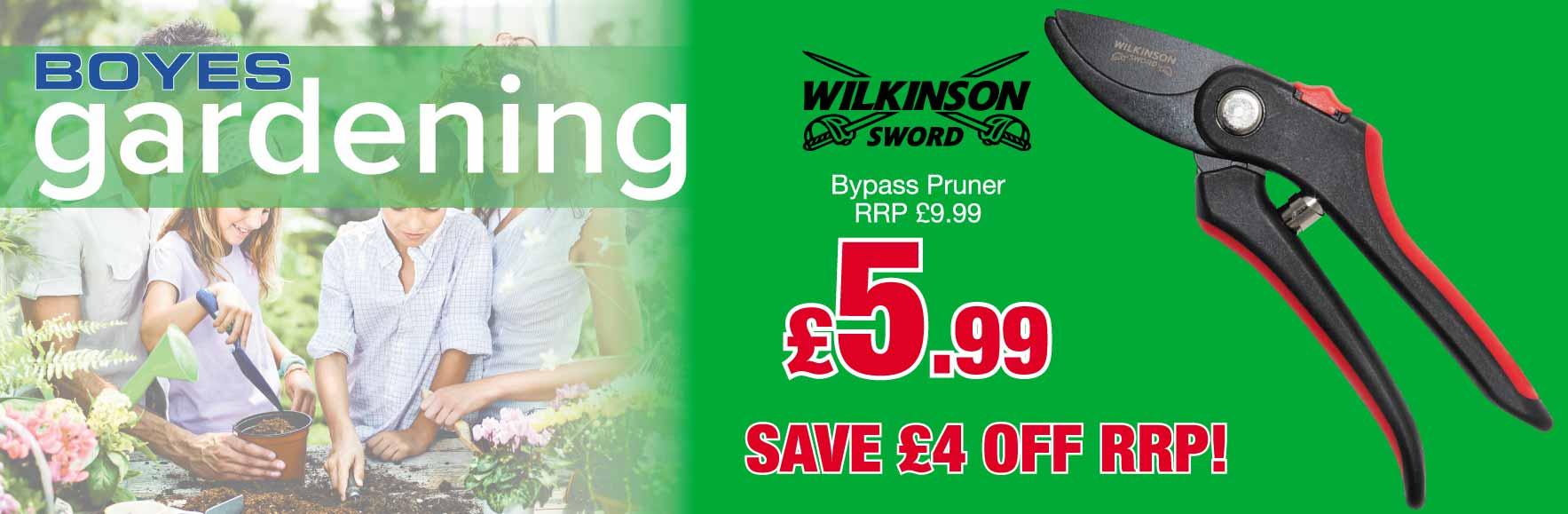 'Wilkinson Sword' Bypass Pruner. RRP £9.99 ONLY £5.99