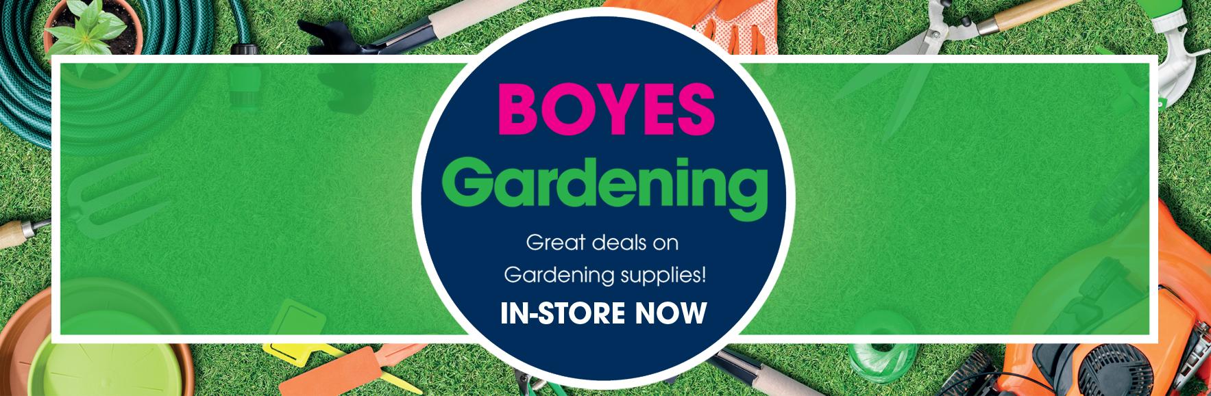 Great deals on gardening supplies. In-store now