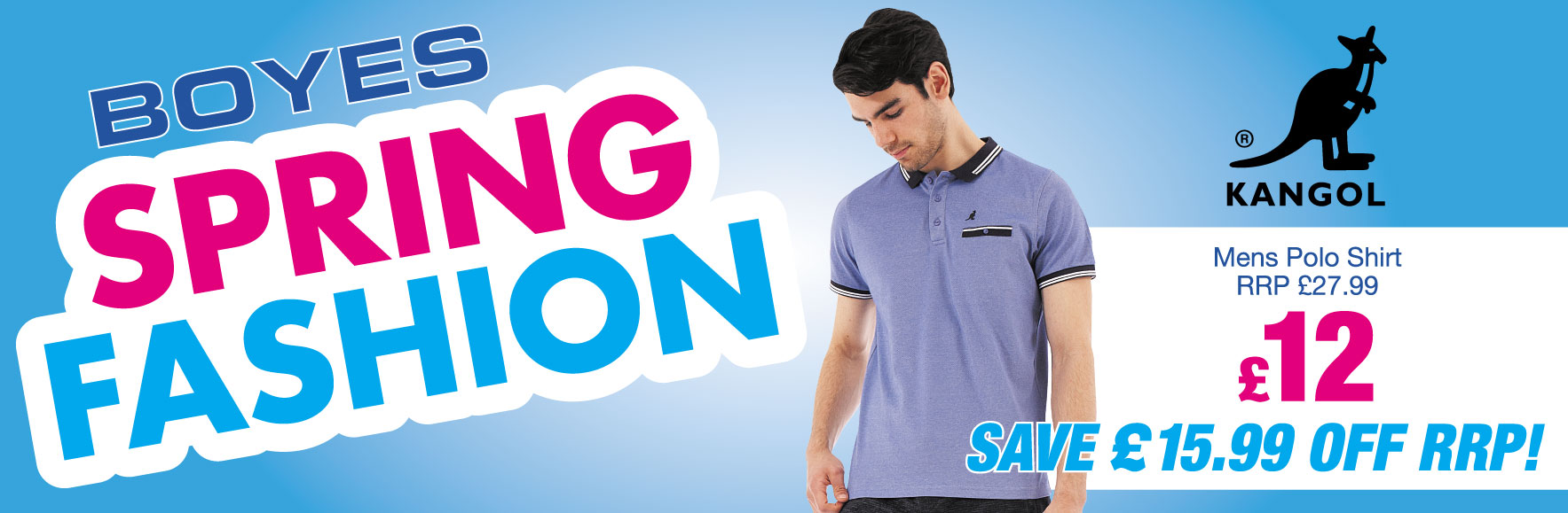 Men's 'Kangol' Polo Shirt. RRP £27.99. SAVE £15.99 OFF RRP! ONLY £12